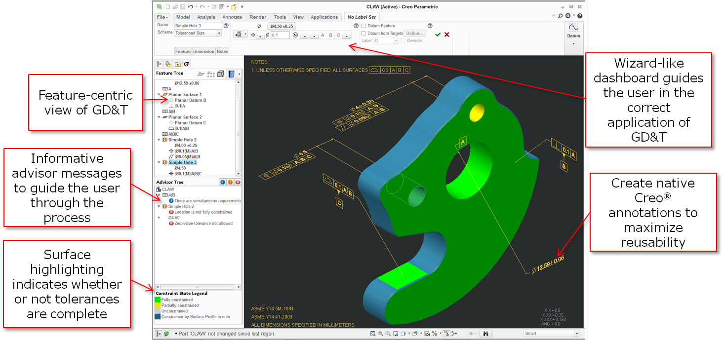 GD&T Tolerance Analysis Software, Geometric Demensioning and Tolerance cad software