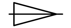 GD and T Conical Taper Symbol
