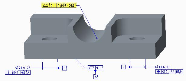 Datum BÌ-CÌ established from parallel holes