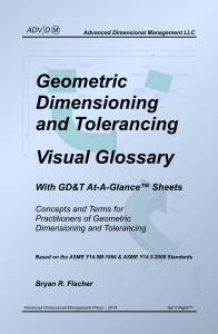 Geometric Dimensioning and Tolerancing Visual Glossary - With GD&T At-A-Glance Sheets