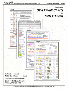 GD&T Wall Chart Set Metric Based on ASME Y14 5-2009